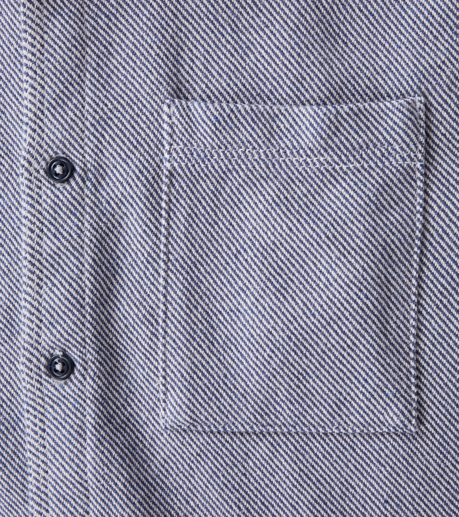Home Work Blanket Twill Overshirt - Chambray Division Road