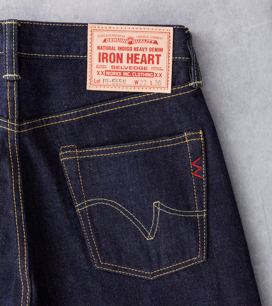 Iron Heart 555N - Super Slim - 17oz Natural Indigo division Road