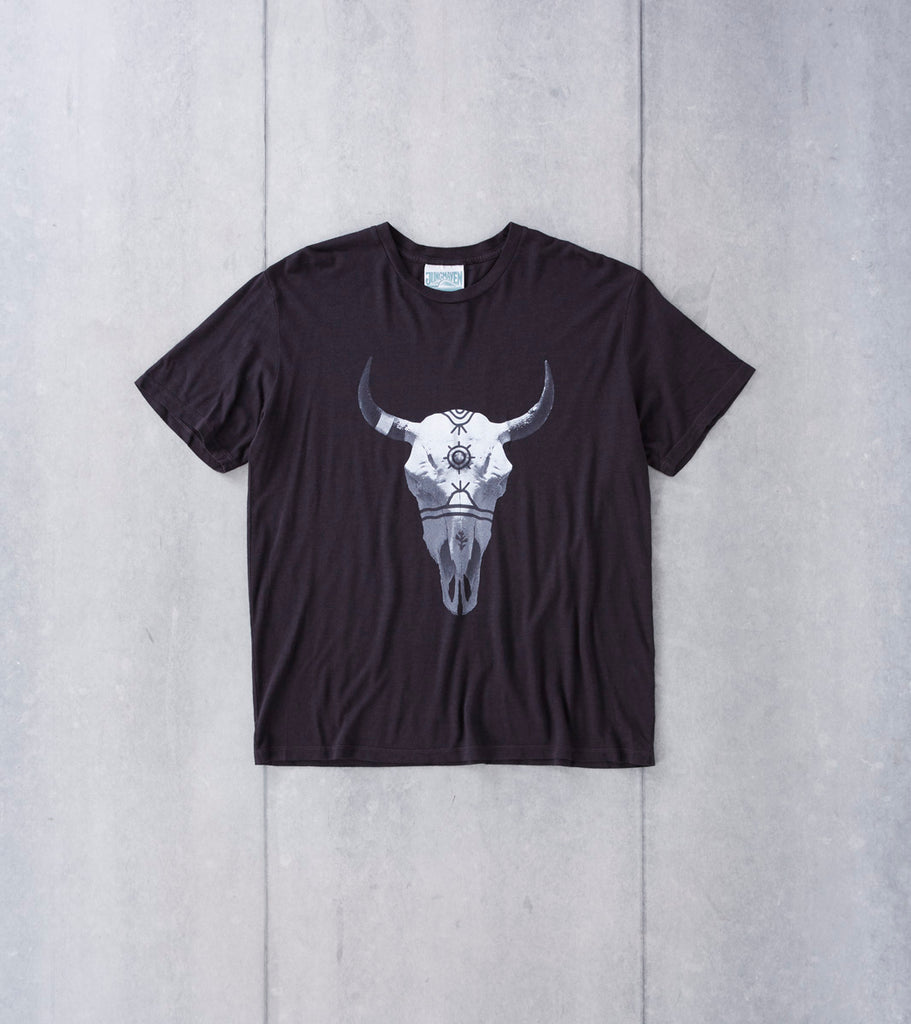 Ginew Buffalo Hemp Tee - Black Division Road