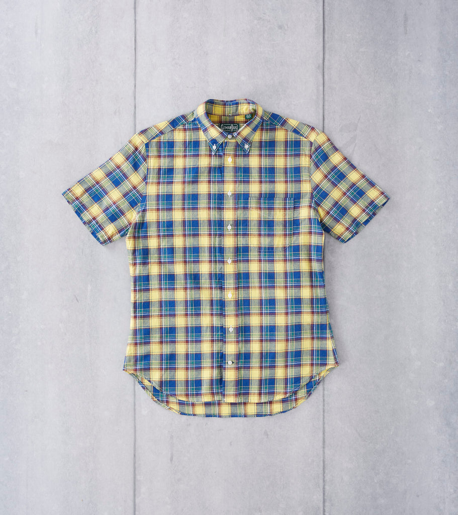 Navy & Yellow Madras Plaid