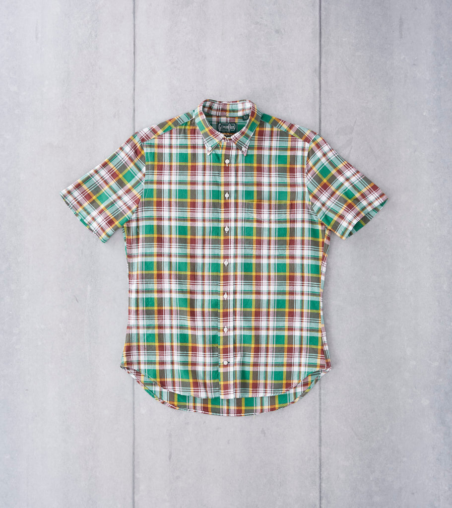 Gitman Vintage Green & Brick Madras Plaid Division Road