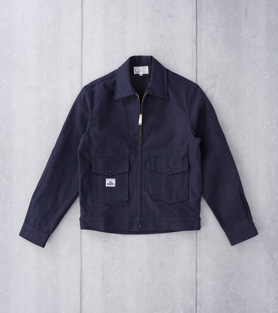 Left Field NYC Greaser Garage Jacket - Japanese Twill - Salt & Pepper Division Road