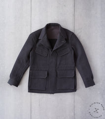 Division Road x MotivMfg MOTIV French F-2 Fatigue Jacket - Lovat Charcoal Covert Cloth