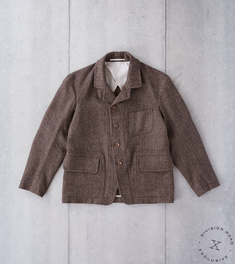 Division Road x MotivMfg MOTIV English Hunt Work Jacket - M&E Natural Wool Herringbone