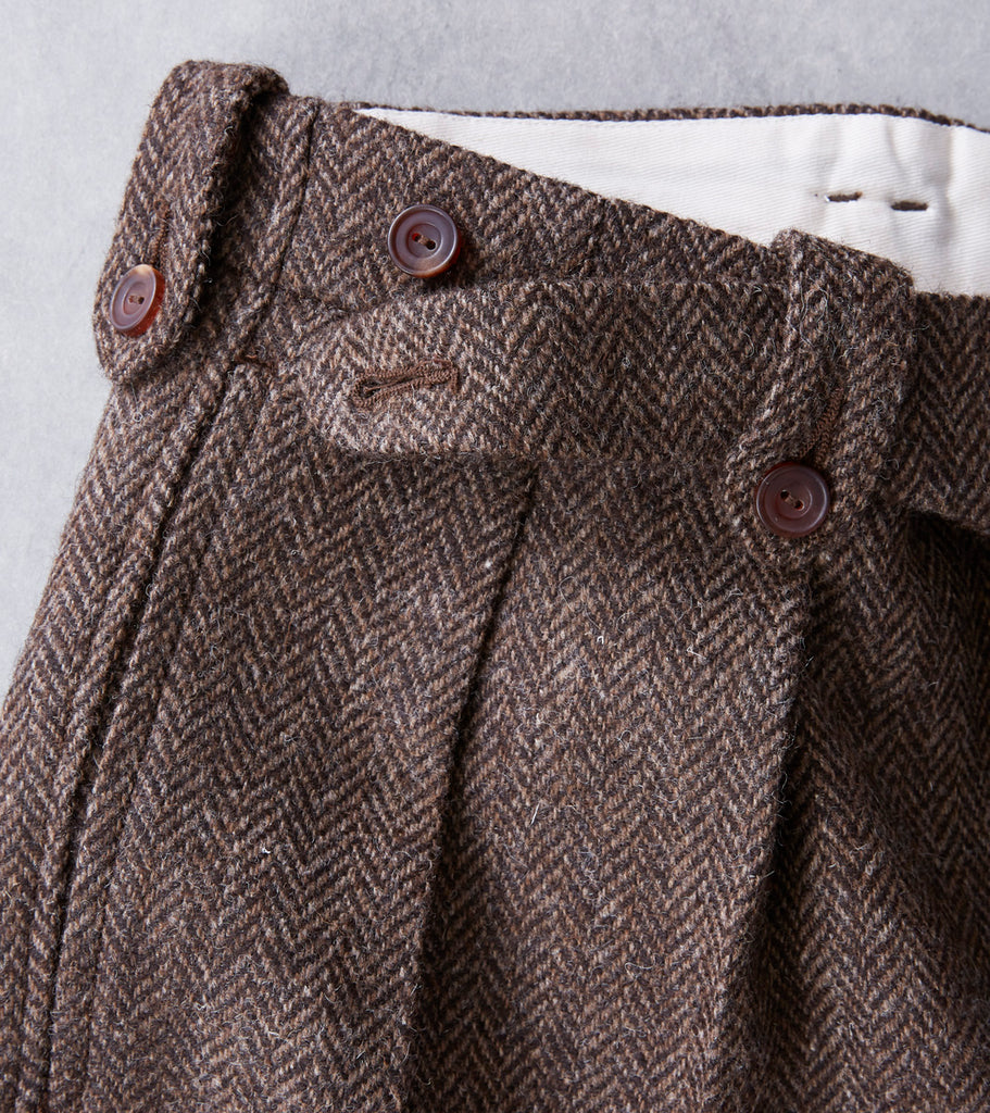 Division Road MotivMfg MOTIV English Convertible Trousers - M&E Natural Wool Herringbone