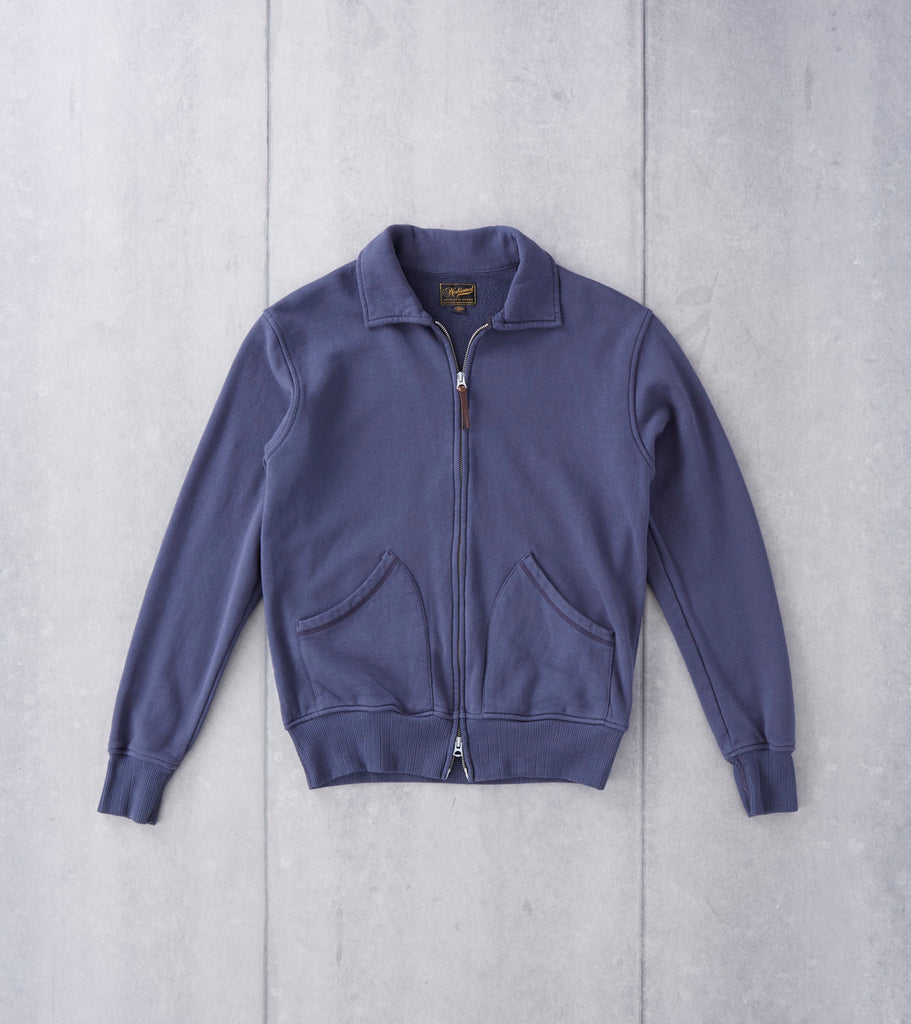 National Athletic Goods - Full Zip Campus Jacket - Navy Fade Division Road