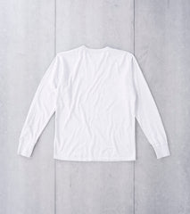 National Athletic Goods - Long Sleeve Gym Tee - White Heather Division Road