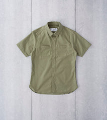 Nine Lives Marshall Islander Back Satin Short Sleeve - Khaki - Division Road