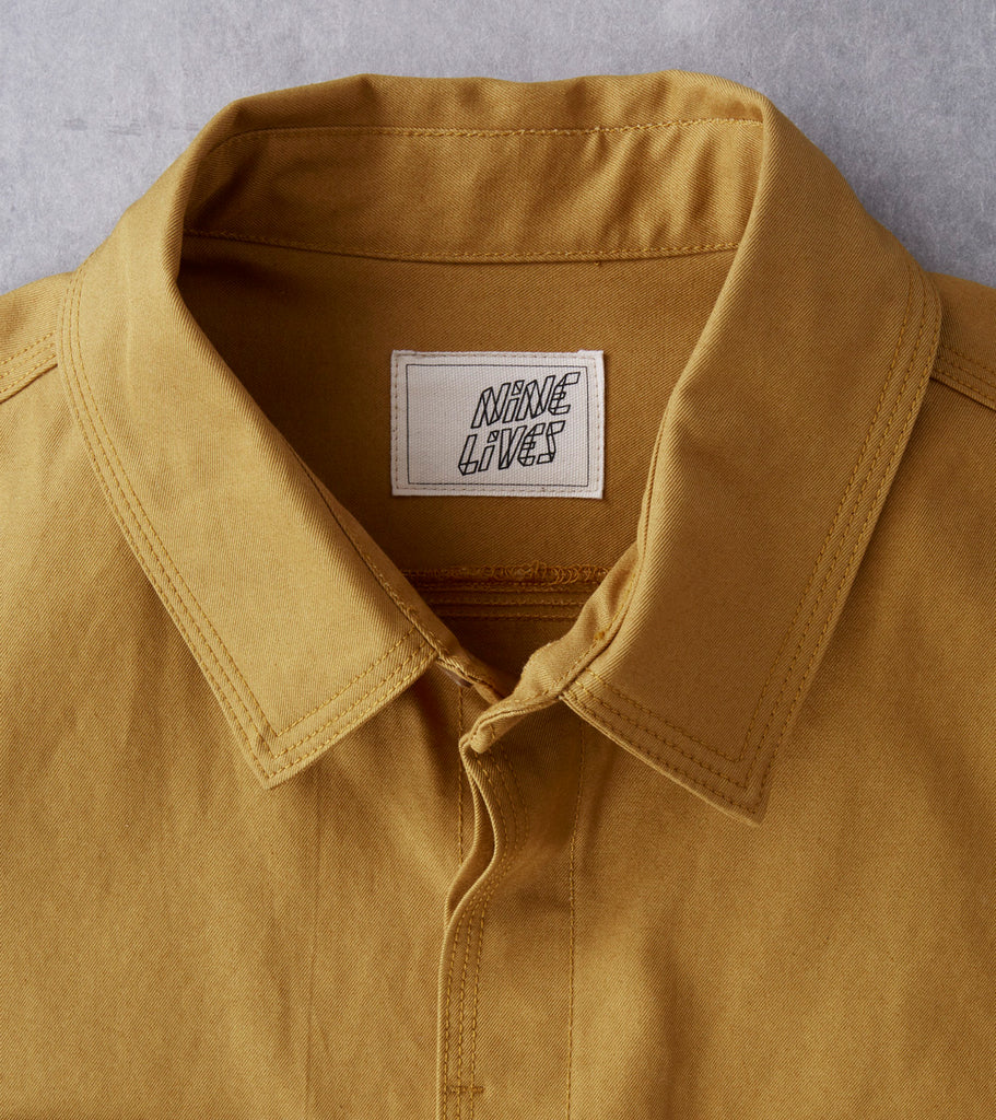 Nine Lives Monsoon Ventile Workshirt - Mustard Division Road