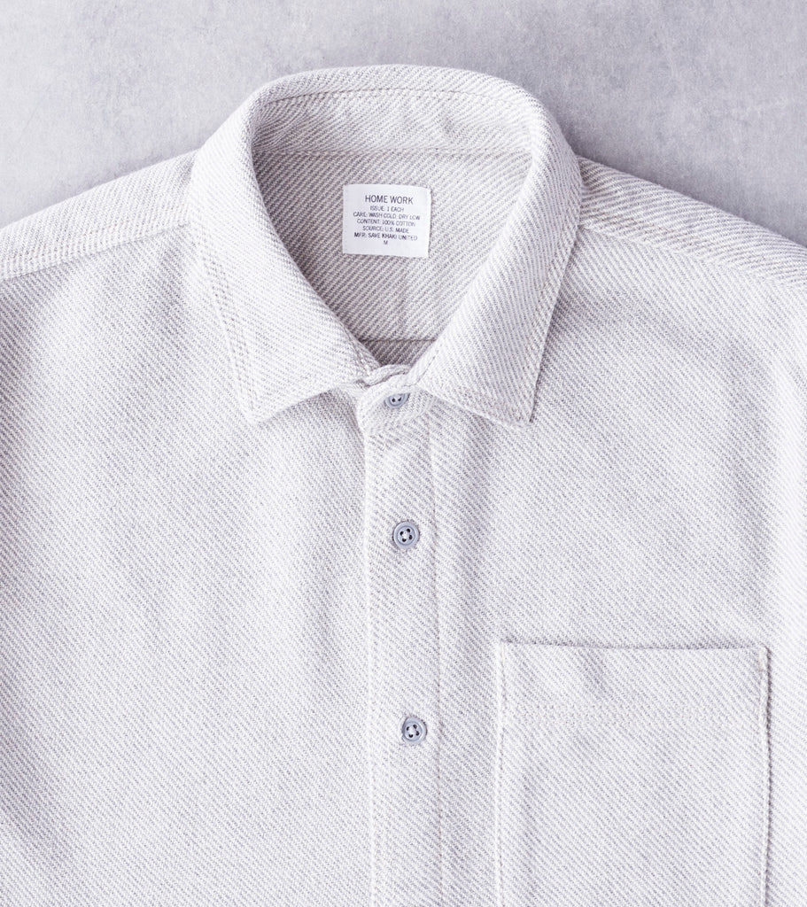 Home Work Blanket Twill Overshirt - Grey Division Road