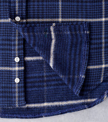 Gitman Vintage Japanese Cotton Houndstooth Tweed - Navy Division Road