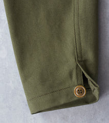 Ginew Shop Jacket - Olive Bull Denim Twill Division Road