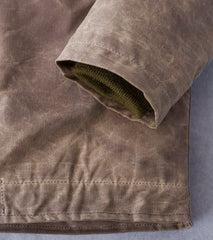 Dehen 1920 Division Road N-1 Deck Jacket - 8.25oz Waxed Shelter Tent - Dark Tan