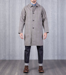 Still By Hand Reversible Coat - Grey Check & Black Division Road