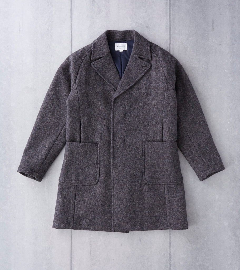 Still By Hand Tweed Thinsulate Coat - Brown Division Road