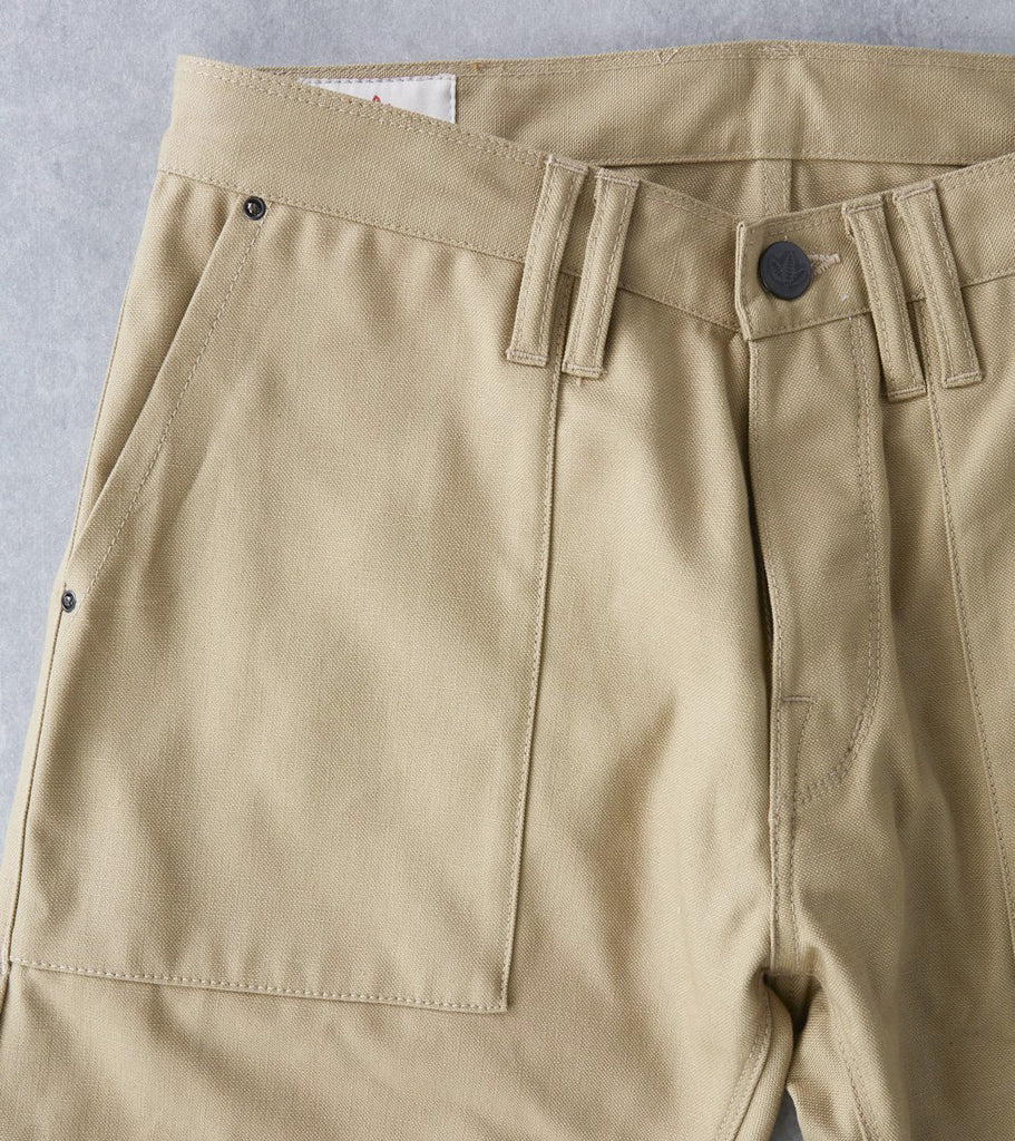 Shockoe Atelier Modern Military Trouser - Selvedge Duck - Khaki Division Road
