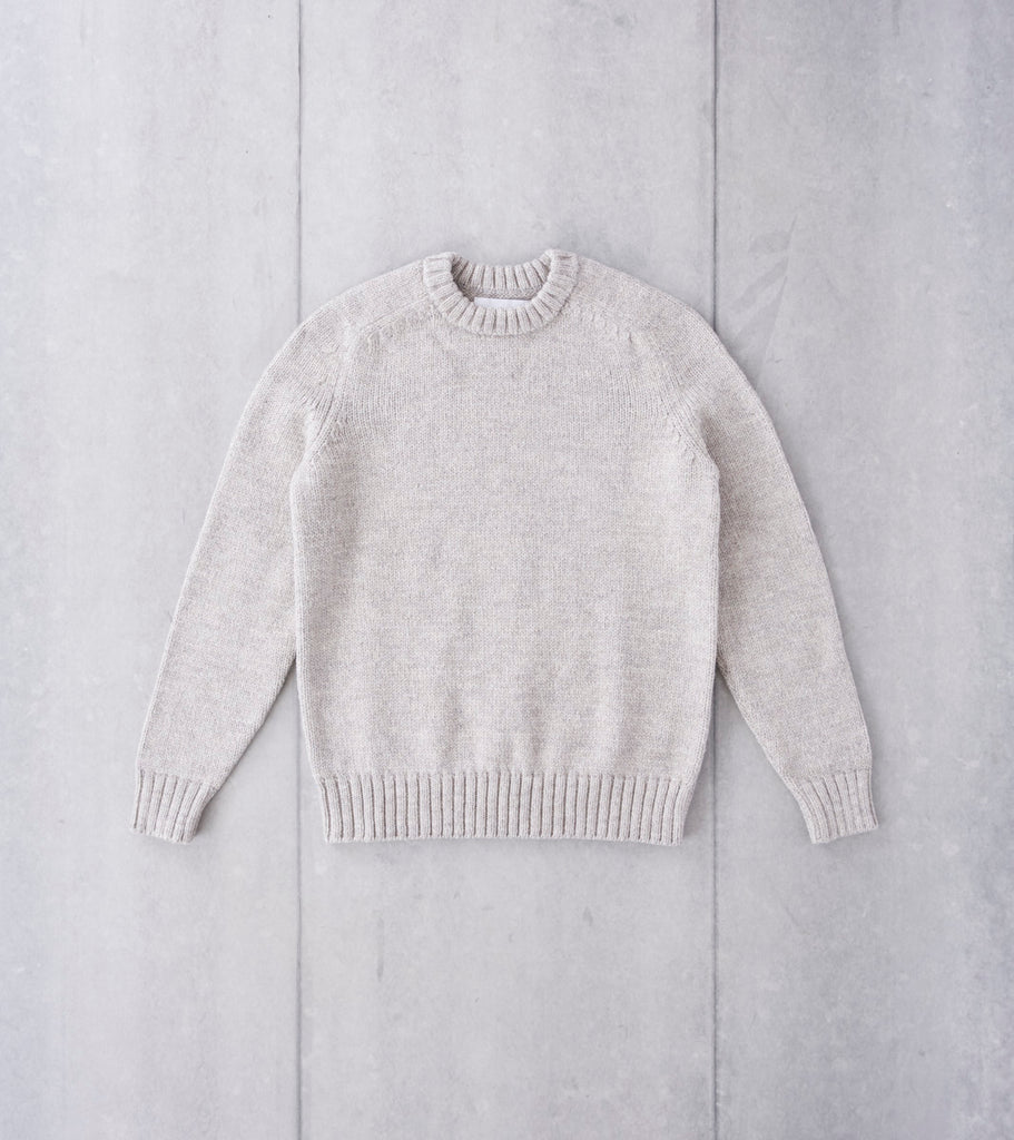 Corridor NYC Organic Highland Wool Crewneck Sweater - Harbor Grey Division Road