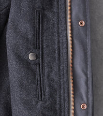 Private White V.C. Deluxe Wax Field Jacket - Charcoal Division Road