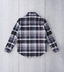 Private White V.C. Handyman Wool Shacket - Charcoal Check Division Road