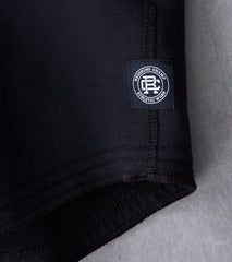 Reigning Champ Scalloped Hoodie - Black Division Road