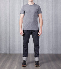 Reigning Champ Short Sleeve Tee - Marled Black Division Road