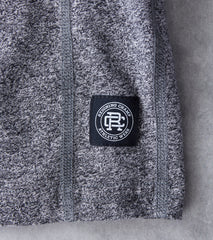 Reigning Champ Long Sleeve Henley - Marled Black Division Road