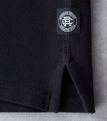 Reigning Champ Pique Polo - Black Division Road