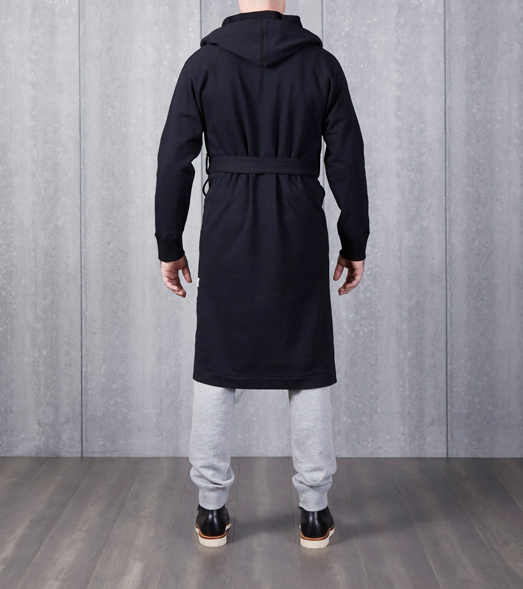 d366b22772 ... Reigning Champ Hooded Robe - Black Division Road