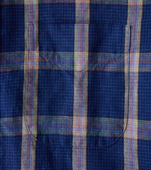 Gitman Vintage Japanese Graph Plaid - Navy Division Road