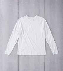 Reigning Champ Long Sleeve Tee - Heather Ash Division Road