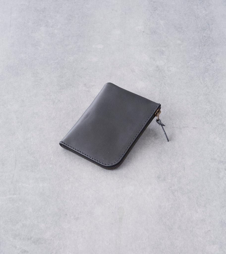 Tanner Goods - Universal Zip Wallet - Charcoal Division Road
