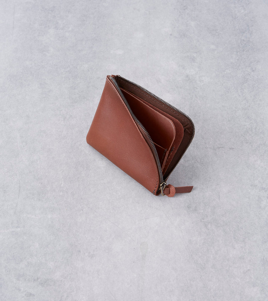 Tanner Goods - Universal Zip Wallet - Caramel Division Road