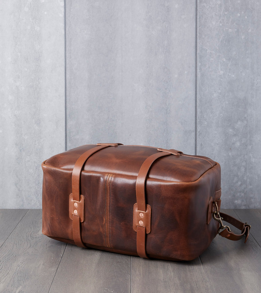 "Vermilyea Pelle 20"" Duffle Bag - Brown Nut Dublin & Natural Wooly Leather Division Road"