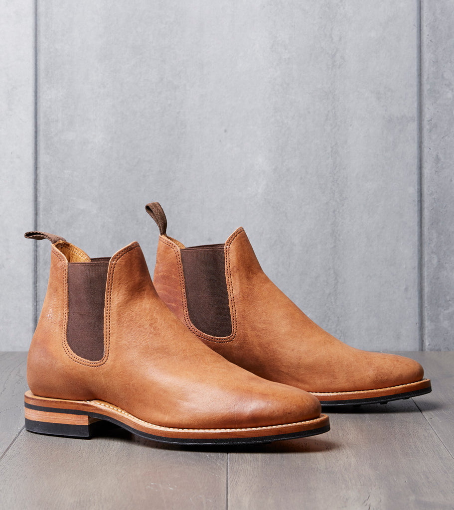 Viberg Chelsea Boot - 2050 - Dainite - Tan Washed Horsehide Division Road