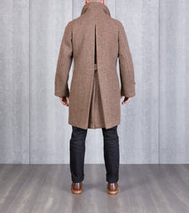 MotivMfg x DR Swiss Army Officer Coat - Marling & Evans® Natural Blanket Wool Division Road