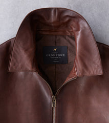 Cromford Leather x DR Sheepskin Fly Rider Jacket - Chestnut Division Road