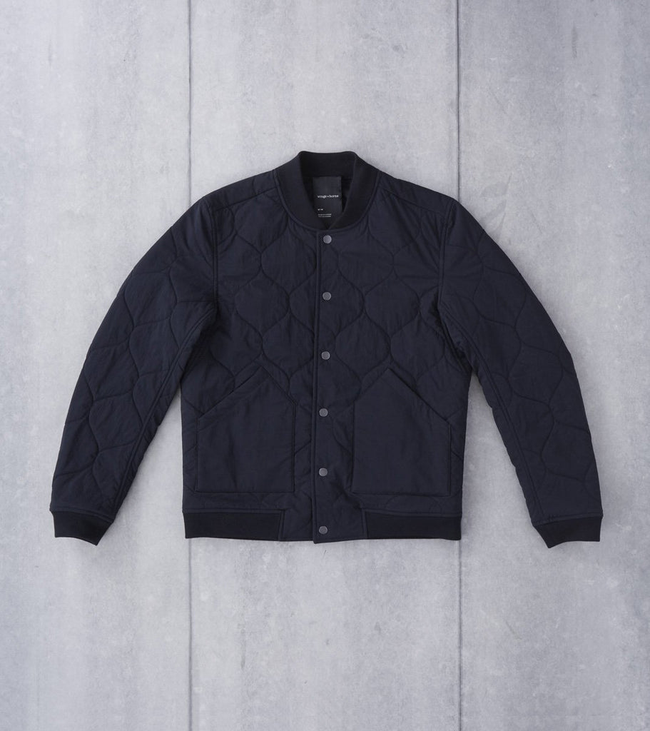 wings + horns Reversible Alpha Bomber - Black Division Road