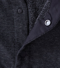 wings+horns Knit Pile Cardigan - Melange Black Division Road