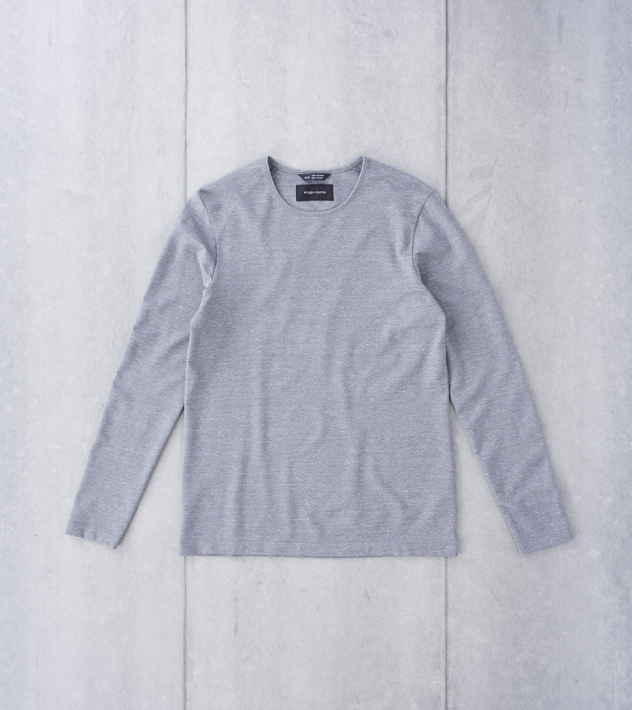 wings+horns Signals Long Sleeve - Static Grey Division Road