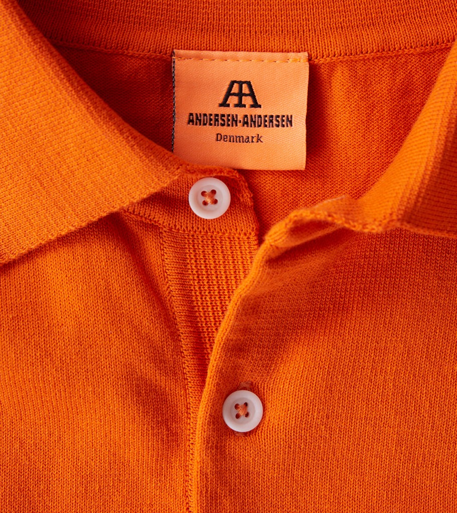 Andersen-Andersen Short Sleeve Polo - Orange Division Road
