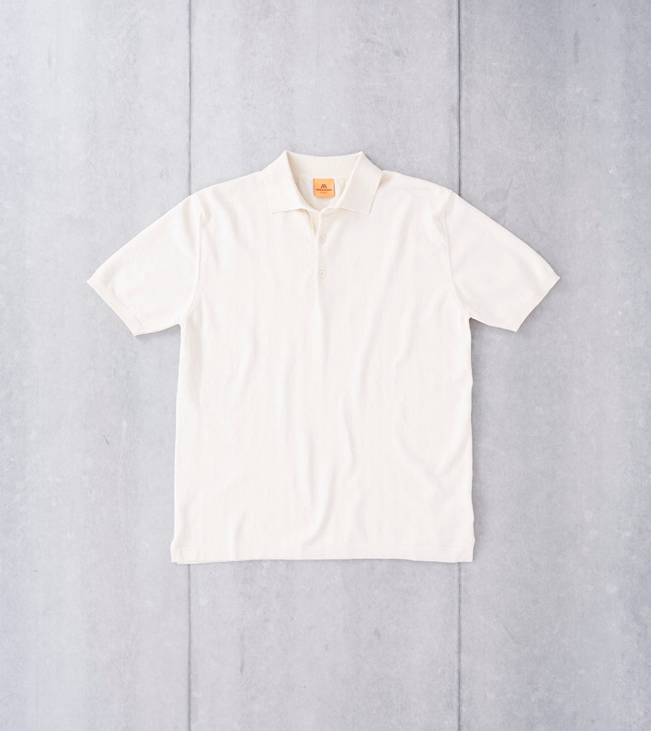 Andersen-Andersen Short Sleeve Polo - Raw Cotton Division Road