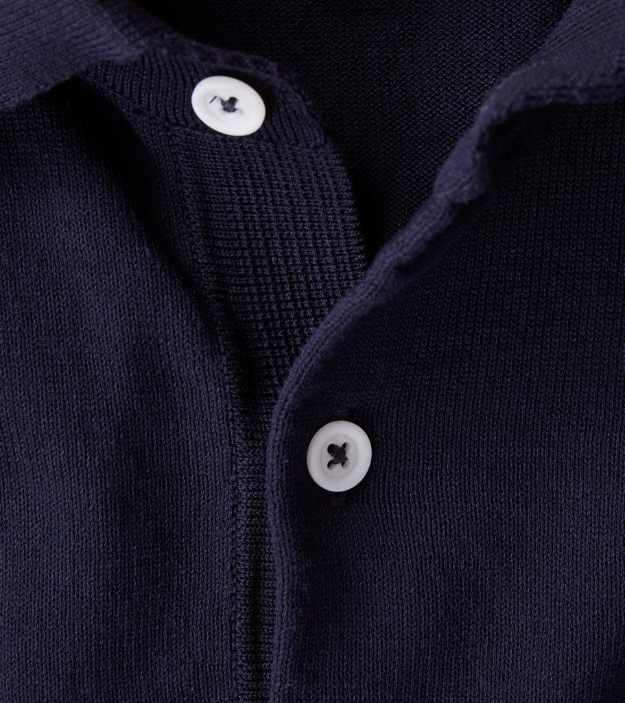 Andersen-Andersen Short Sleeve Polo - Navy Division Road