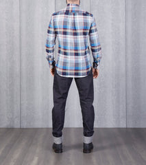 Gitman Vintage Big Poplin Plaid - Navy Division Road