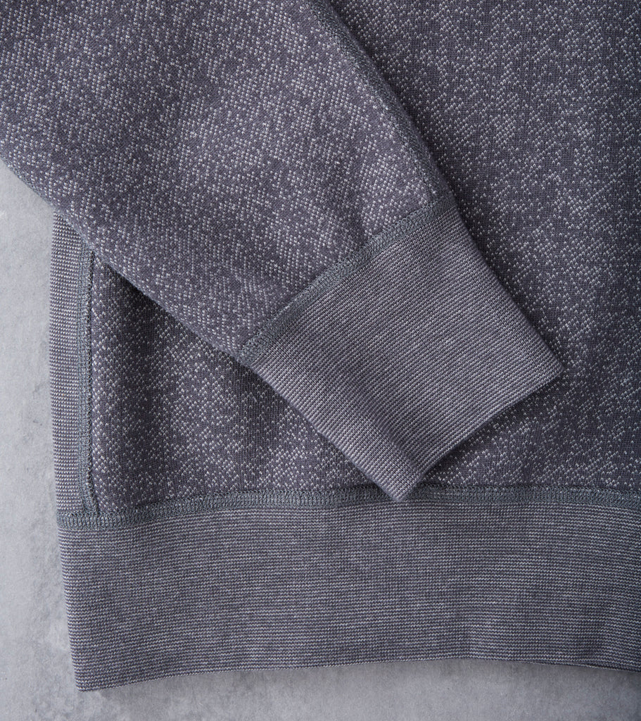Reigning Champ Tiger Fleece Crewneck Sweatshirt - Grey Division Road