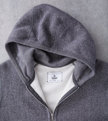 Reigning Champ Tiger Fleece Full Zip Hoodie - Grey Division Road