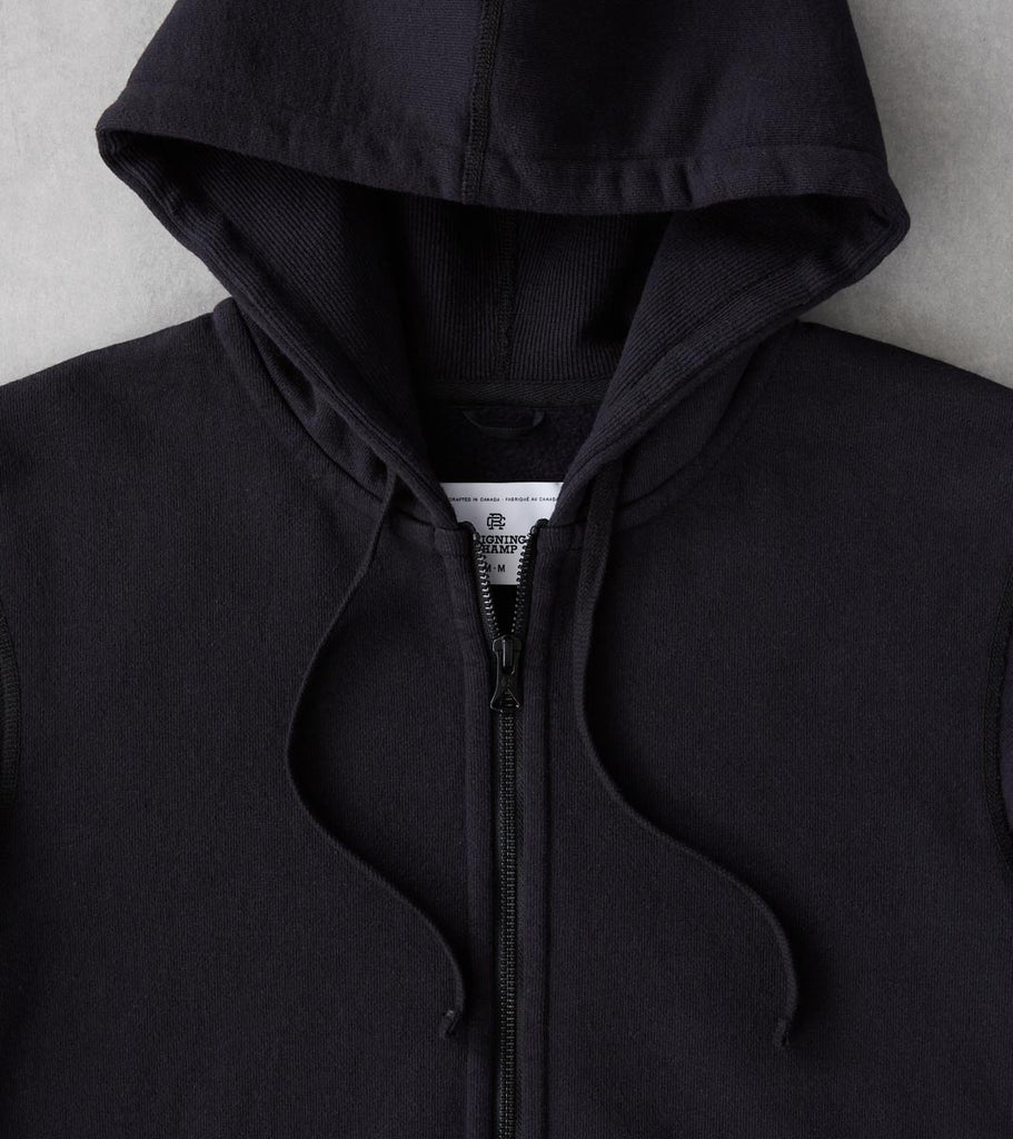 Division Road Reigning Champ Heavyweight Fleece Full Zip Hoodie - Black