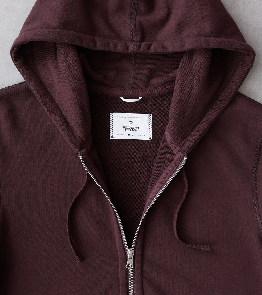 Division Road Reigning Champ Full Zip Hoodie - Dusk