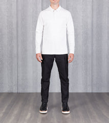 Division Road wings+horns Signals Long Sleeve Polo - Static White