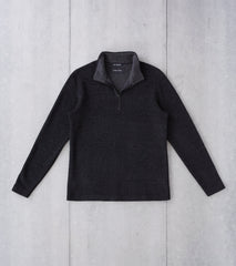Division Road wings+horns Alpine Merino Half Zip - Charcoal
