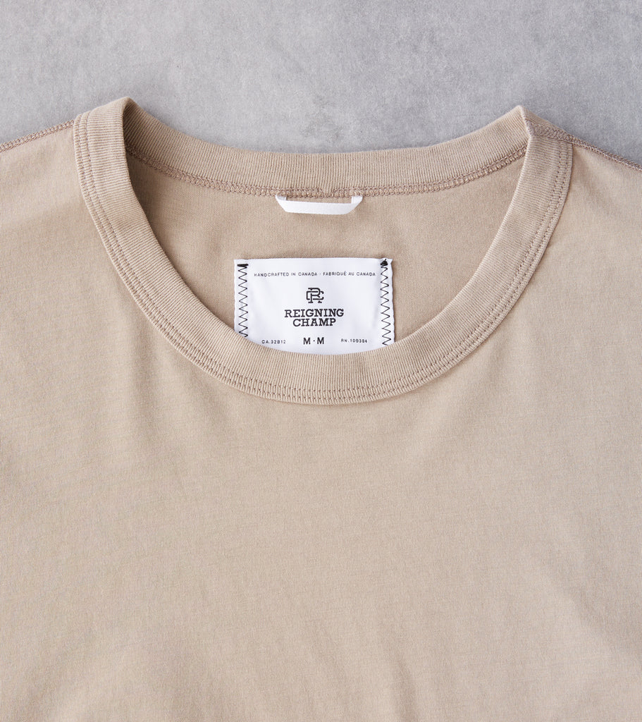 Reigning Champ Short Sleeve Tee - Khaki Division Road